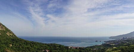 Panorama of the natural landscape in the vicinity of Gurzuf, Crimea