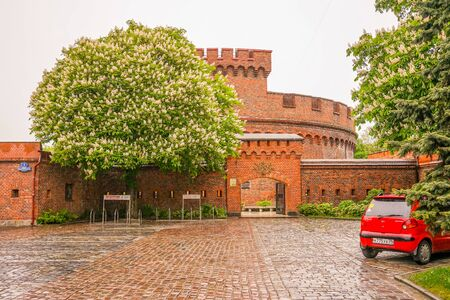 Kaliningrad, Russia-may 14, 2015: Urban landscape with a view of the old building of the amber Museum.