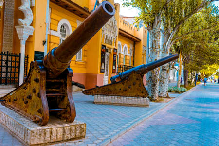 Evpatoria, Crimea-may 23, 2018: Cityscape with a view of the history Museum 報道画像