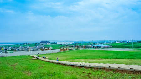 Taman, Krasnodar territory-may 21, 2011: Landscape with a view of the Ataman-open-air ethnographic Museum. 報道画像