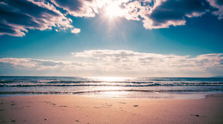 The sandy beach of the sea of Japan on the shores of the Primorsky territory Reklamní fotografie