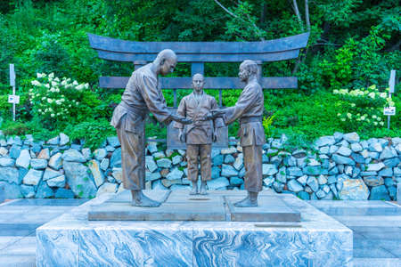 Vladivostok, Russia - August 11, 2018: Monument on the Ship embankment.
