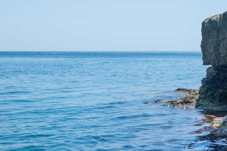 Marine landscape with views of the rocky shore.
