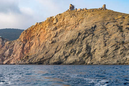 Sevastopol, Crimea. Coastline with a rocky shore