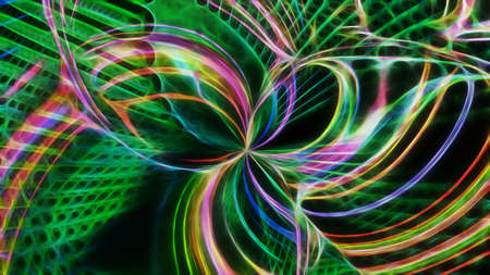 Abstract textured fractal neon background. For design and network