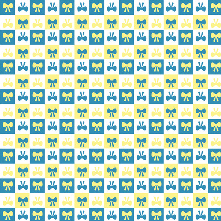 ornamentations: pattern of the bow on a background of squares Illustration