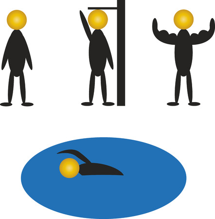 floats: coin growing, floats Illustration