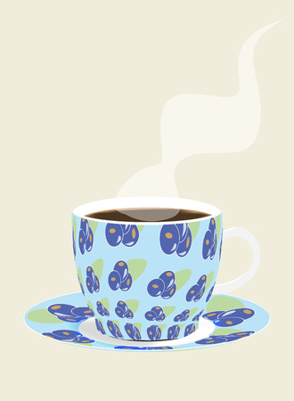 bilberry: cup of coffee Illustration