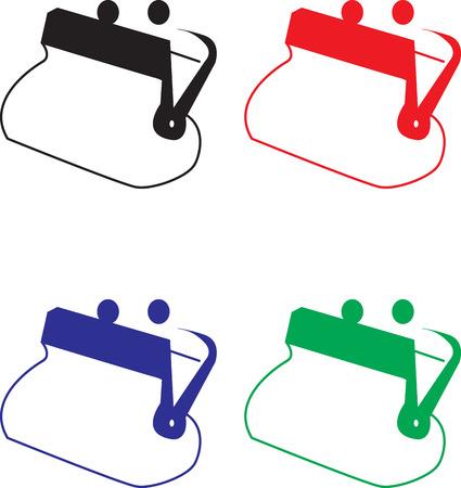 empty wallet: colorful empty wallets vector illustration Illustration