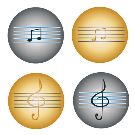 gray strip: solfeggio, musical notes and key