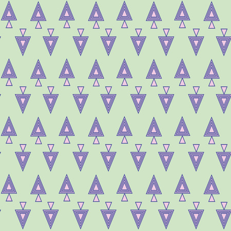 coniferous: coniferous trees spruce and pine from triangles Illustration