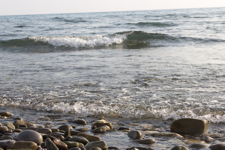 on the black sea: water and waves of the black sea, sea