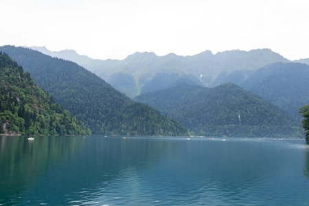 highland: highland lake Ritsa in Abkhazia