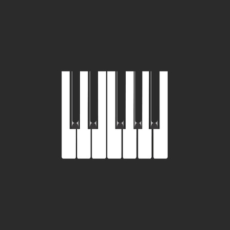 picture of white and black keys of a piano Illustration