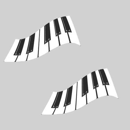 tempo: picture of white and black keys of a piano Illustration