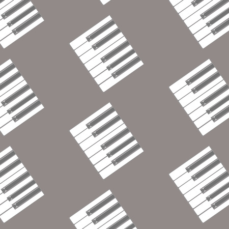 pattern of white and black keys of a piano Illustration