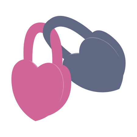 latch: vector illustration of a latch in the shape of a heart
