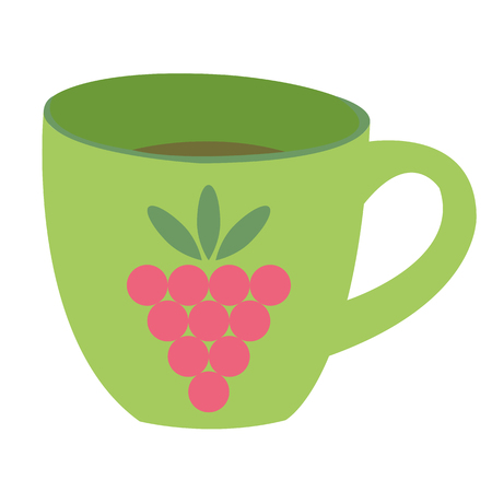 raspberry pink: vector illustration of a cup of coffee Illustration