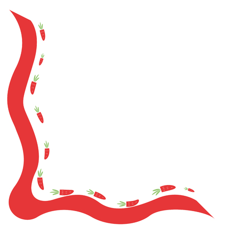twisty: vector illustration of a ribbon with berries