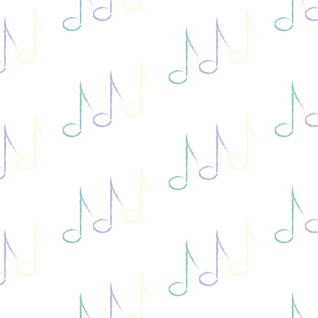 music notes vector: pattern of music notes, vector illustration