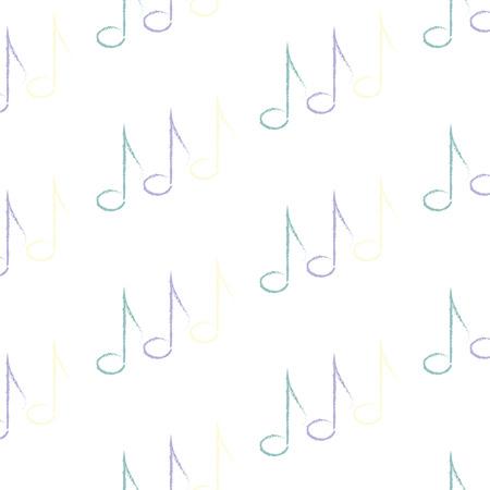 gamma tone: pattern of music notes, vector illustration