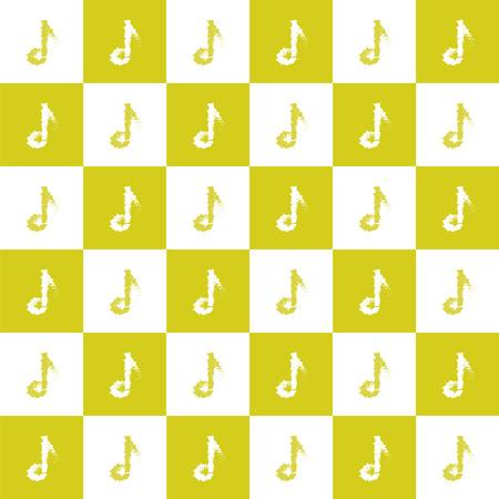 pattern of music notes, vector illustration
