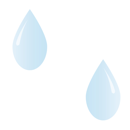 drops of water: drawing water drops blue color Vectores