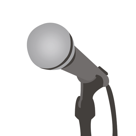 gamma: microphone is in gray colors, vector illustration