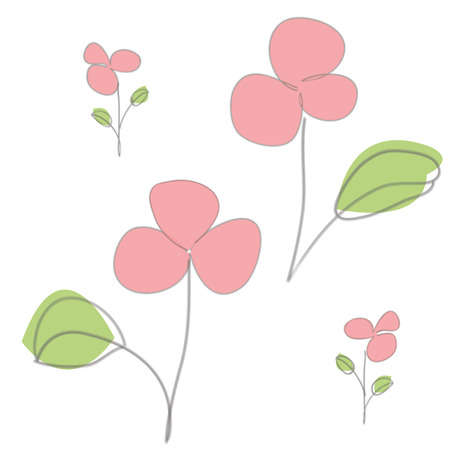 bright: abstract flower, bright floral print Illustration
