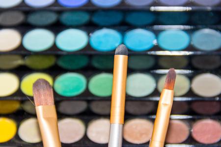 reticulation: cosmetics, eyeshadow, makeup Stock Photo