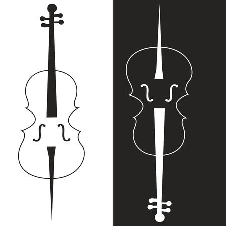 chiave di violino: strumento musicale violoncello, violino immagine