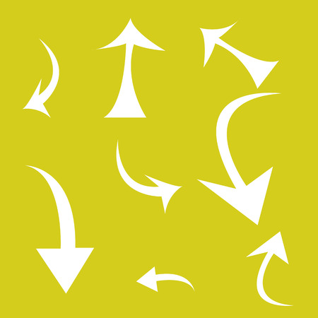 spit: abstract arrows on a colored background Illustration