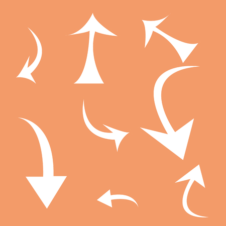 abstract arrows on a colored background Иллюстрация