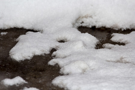 winter thaw: snow melts during the thaw