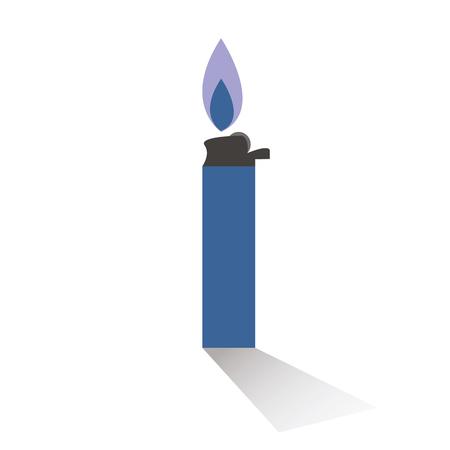 burning: isolate burning lighter on white background