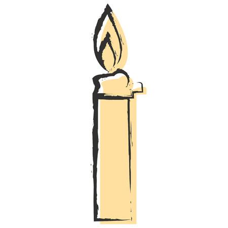 lighter: isolate burning lighter on white background