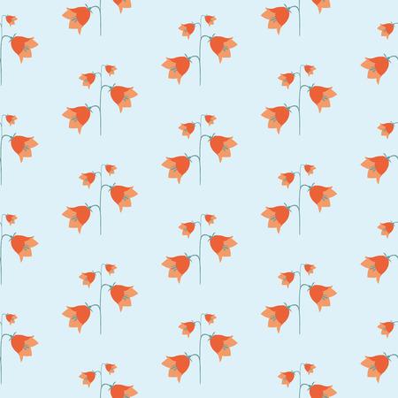 campanula: summer flowering plants flower bell Illustration