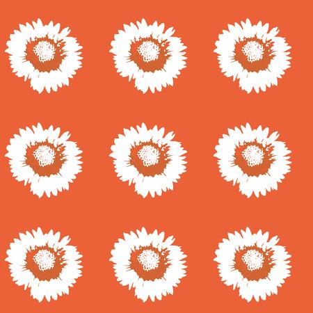 color de la flor de la margarita en el fondo de color