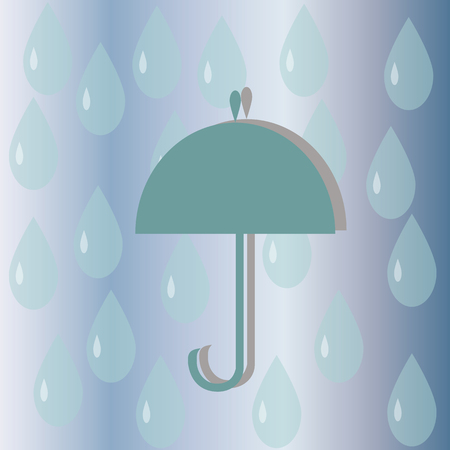 damp: picture of the umbrella device from rain