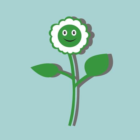petal: color cartoon flower of daisy with petal