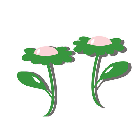 perky: color cartoon flower of daisy with petal