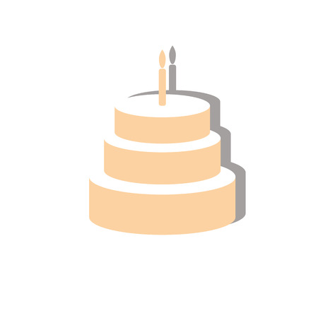 layers: sweet birthday cake of three layers