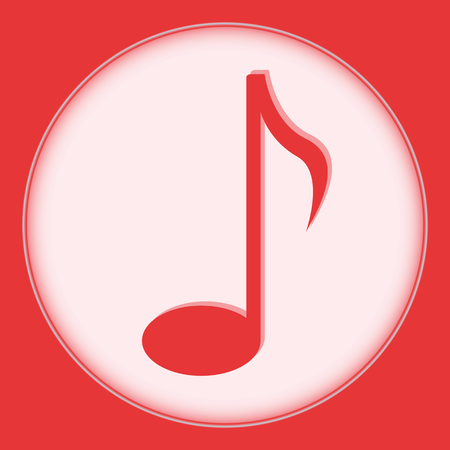 accompaniment: sign black music note on white background Illustration
