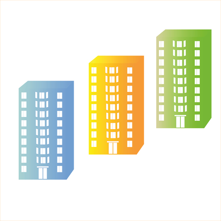 tenement: nine storey tenement house with windows