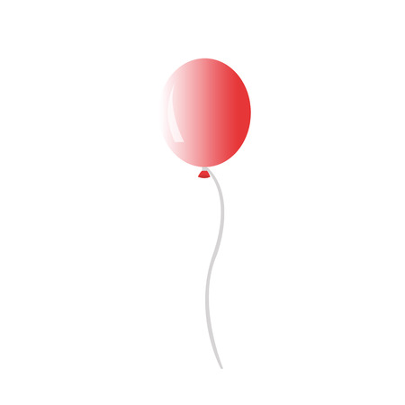inflated: air inflated ball or balloon on a string