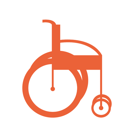 Creative design of a red sketch of invalid armchair or wheelchair Illustration