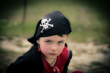 girl in pirate bandana photo