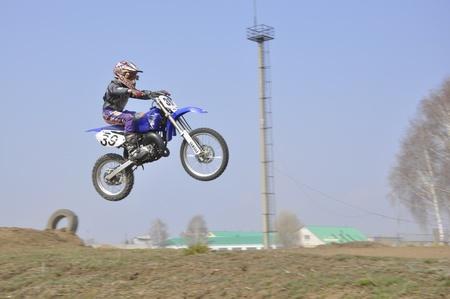 supercross: Russia, Samara, Regional Championship April 17,2010, motocross, unknown junior riders  jump Editorial