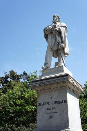 Padova.The statue of Giuseppe Garibaldi.