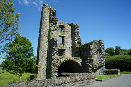 Ruins of Mellifont Abbey.Ireland.Central entrance tower.